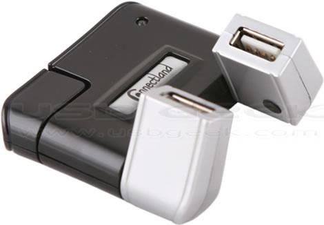 4-Port USB Swivel Hub