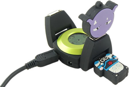 USB Hub Clock with Watch Design