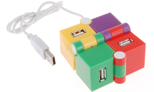 Colorful Cubic 4-Port USB Hub