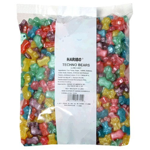 5-Pound Bag of Haribo Techno Gummi Bears