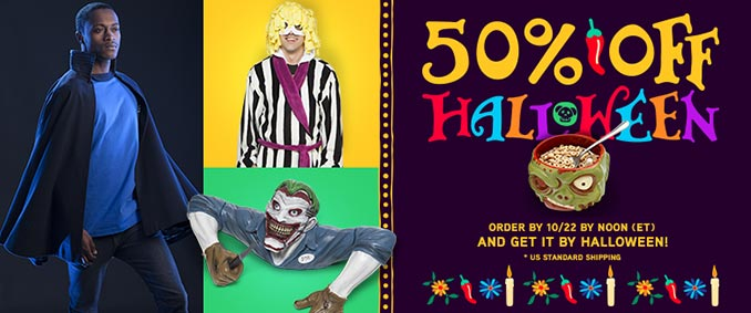 50% Off Halloween at ThinkGeek