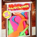50-Piece Mustache Glow Shapes
