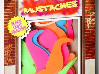 50-Piece Mustache Glow Shapes