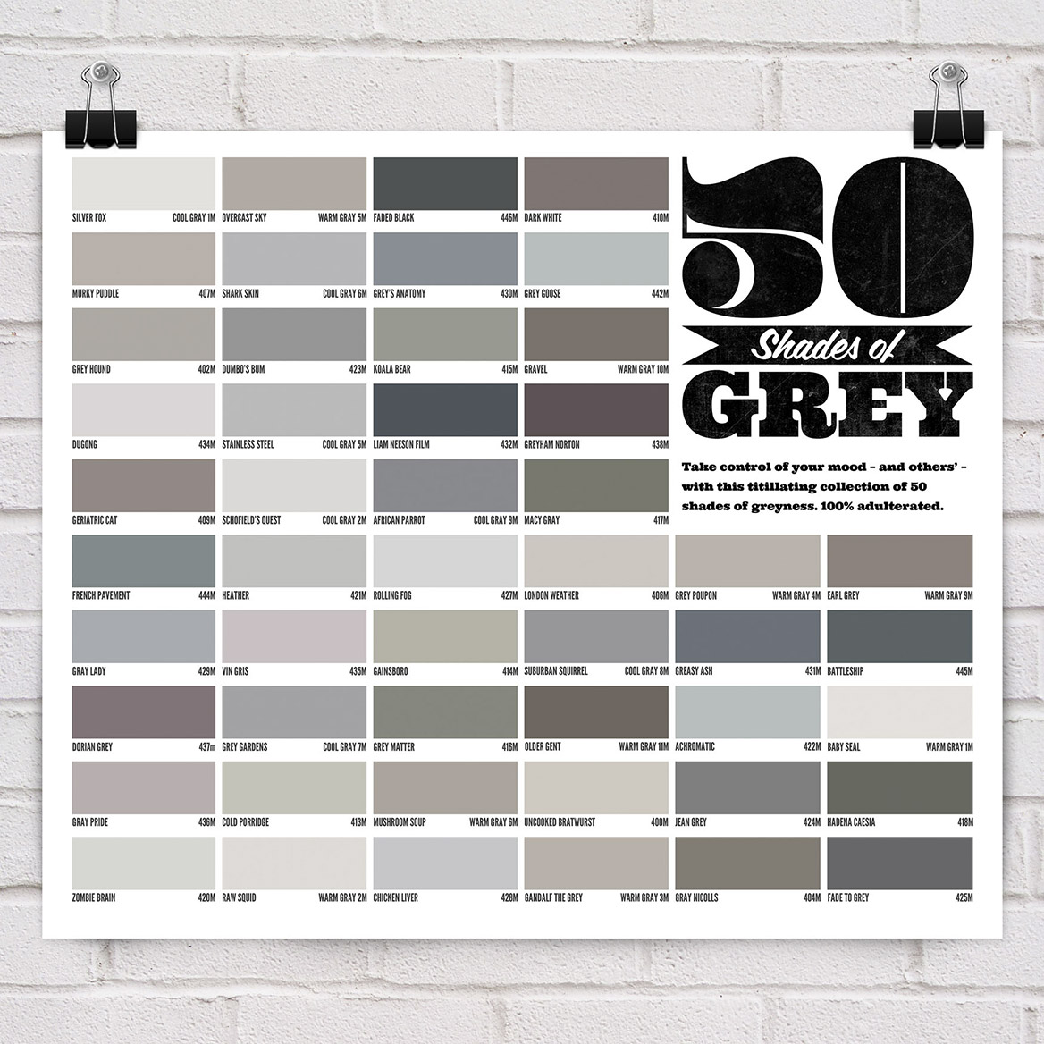 50 Shades of Grey Colors 1168 x 1168