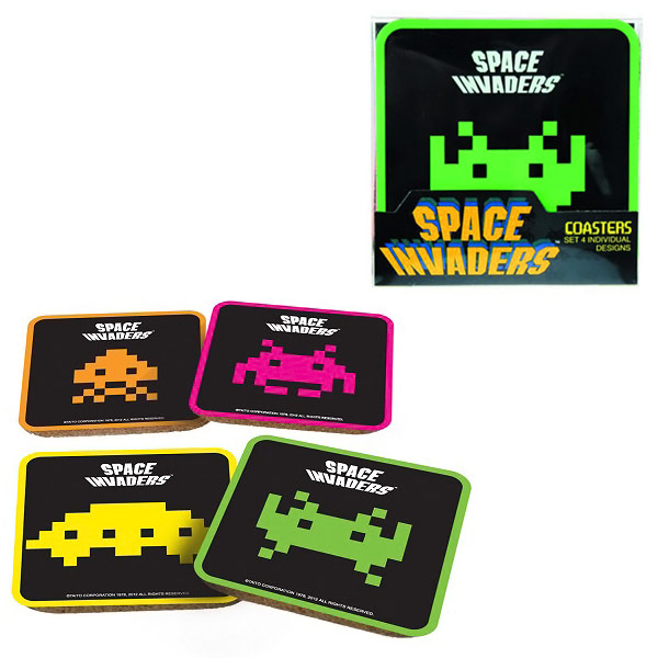 50Fifty Space Invaders Coasters Set