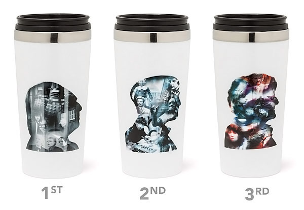 50th Anniversary Doctor Who Travel Mug Set