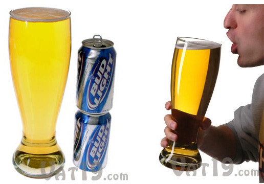 5-for-1 Big Bottom Giant Beer Glass