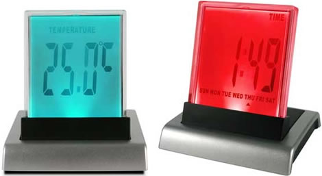 Colour-Changing Push-Clock Novelty Alarm Clock