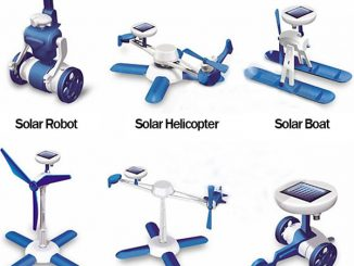 6 in 1 Solar Powered DIY Robot Toy Assembly Kit