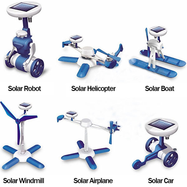 6 in 1 solar powered diy robot toy assembly kit for Solar energy games
