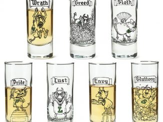 7 Deadly Sins Shot Glasses