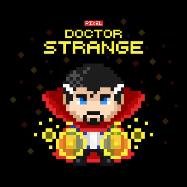8 Bit Doctor Strange T Shirt