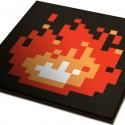 8-Bit Fireplace Art