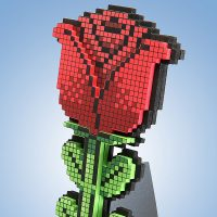 8-Bit-Valentine's-Day-Rose