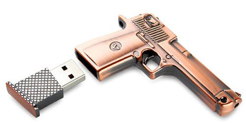 8 GB Metal Gun USB Flash Memory Drive