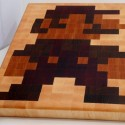 8 bit Mario end grain cutting board