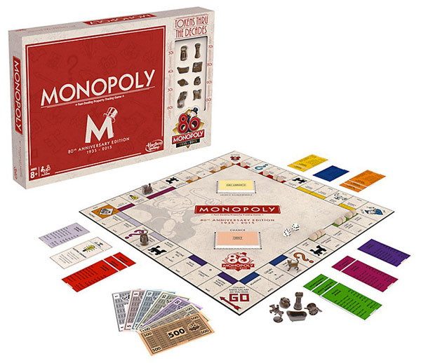 80th Anniversary Monopoly Edition Game