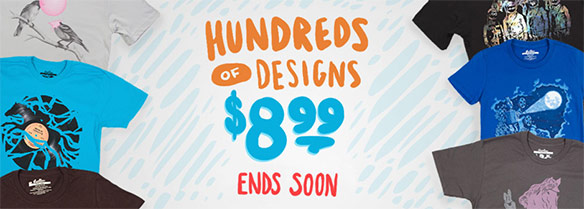 $8.99 T-Shirt Sale at Threadless.com