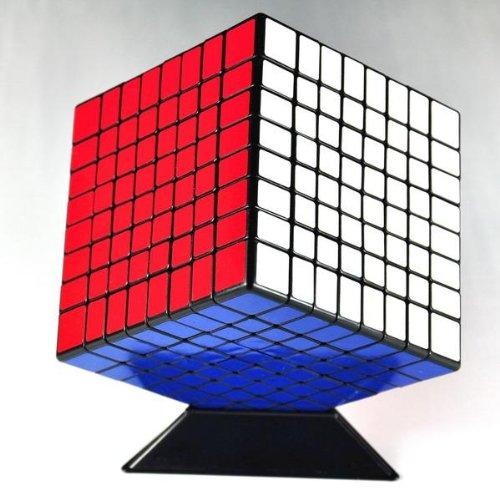 8x8x8 8cm Black Twisty Speed Cube Puzzle