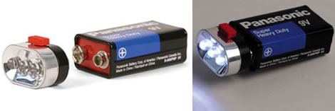 9-Volt LED Flashlight