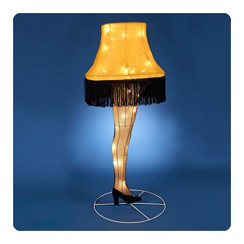 A Christmas Story Leg Lamp 28-Inch Light-Up Tinsel Display