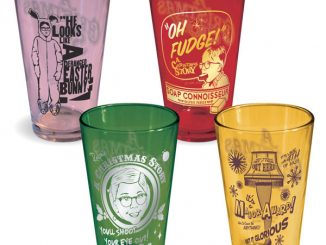 A Christmas Story Movie - Collectible Tinted Pint Bar Glasses (Set of 4)