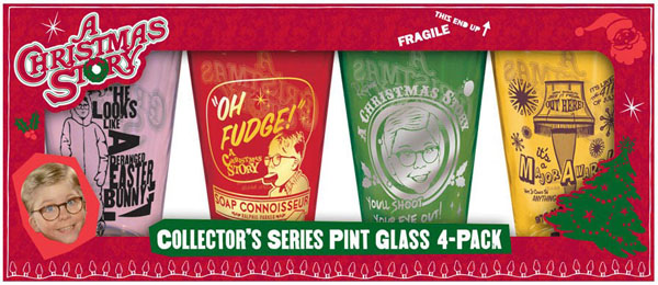A Christmas Story Movie - Tinted Pint Bar Glasses