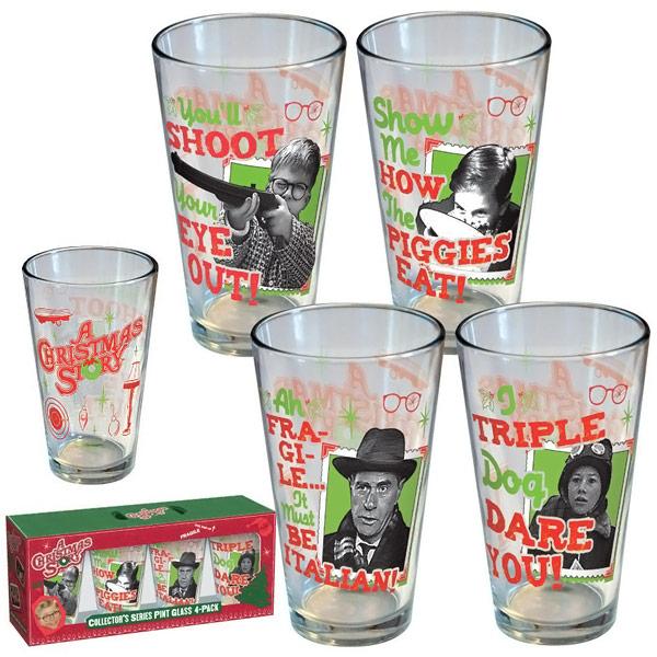 A Christmas Story Retro Pint Glass 4 Pack