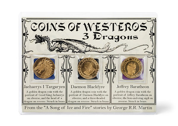 A Song of Ice and Fire Golden Dragon Coin Set
