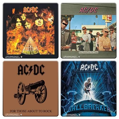 AC/DC Album Cover Coaster 4-Pack