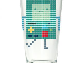 Adventure Time BMO Pixel Pint Glass