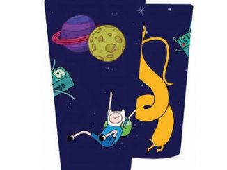 Adventure Time Characters Floating in Space Pint Glass