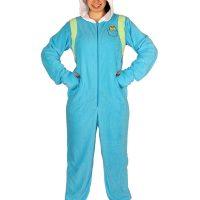 Adventure Time Finn Footed Hooded Adult Pajamas
