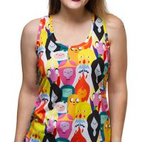 Adventure Time Head Stack Ladies' Tank