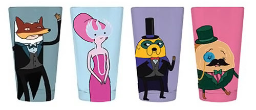 Adventure Time Masquerade Characters Pint Glasses