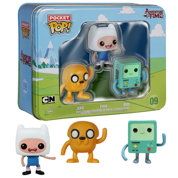Adventure Time Pocket Pop! Mini Vinyl Figure 3-Pack Tin