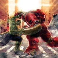 Age of Ultron Hulk vs Hulkbuster Mural