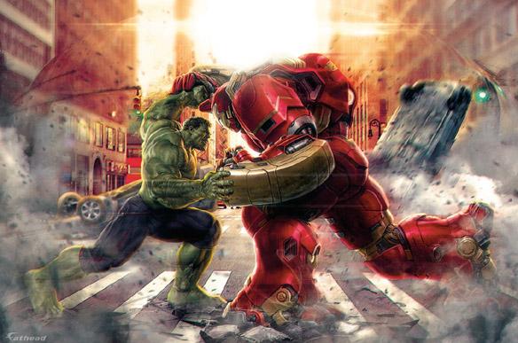 Age of Ultron Hulk vs Hulkbuster Mural