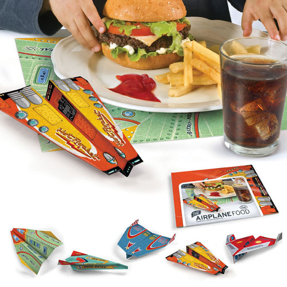 Airplane Food Placemat