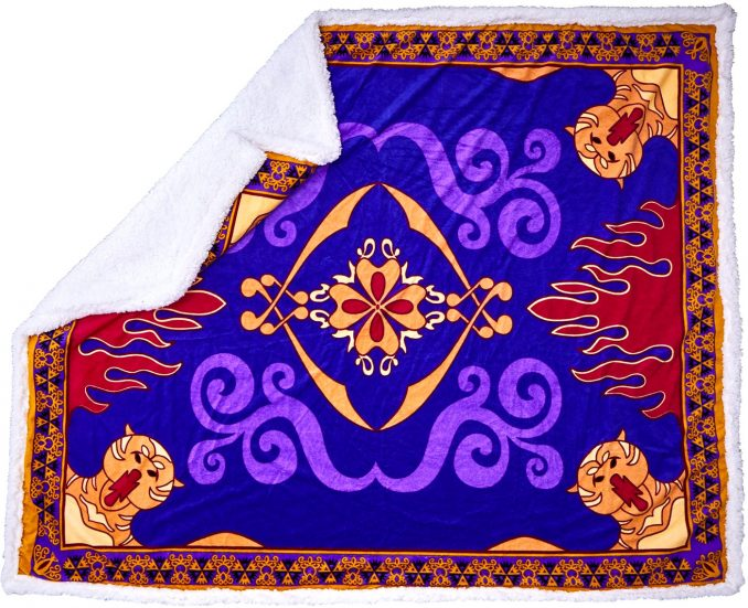 Aladdin Flying Carpet Sherpa Throw Blanket