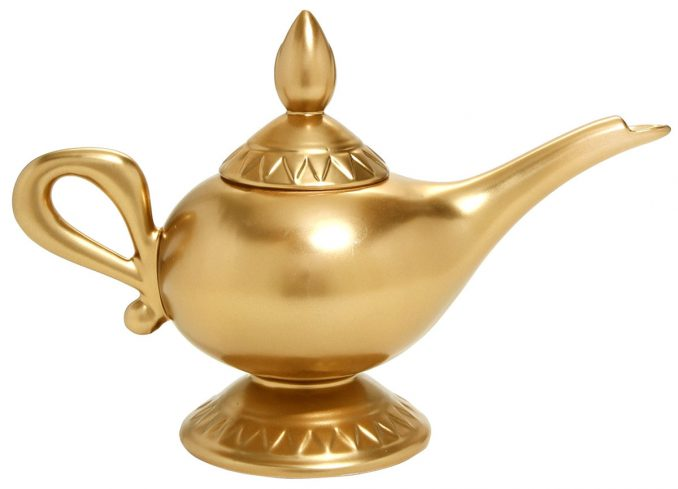 Aladdin Genies Lamp Ceramic Teapot