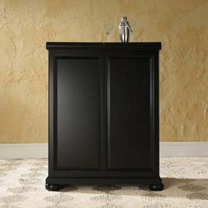 Alexandria Expandable Home Bar Liquor Cabinet - Closed