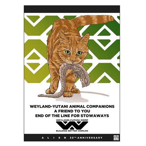 Alien 35th Anniversary A Friend To You by Laurie Greasley Lithograph Art Print