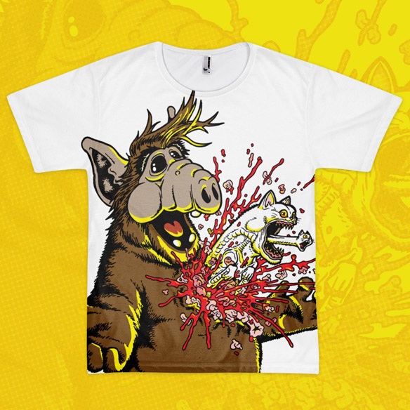 Alien ALF Melmac Menace T-Shirt