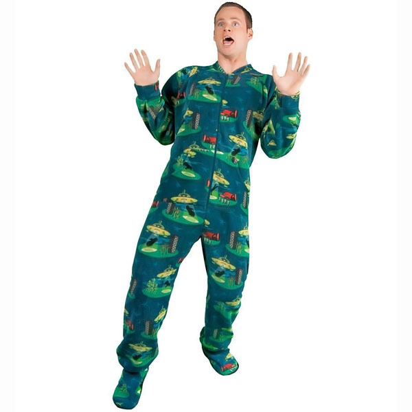 Alien Abduction Fleece Onesie Pajamas
