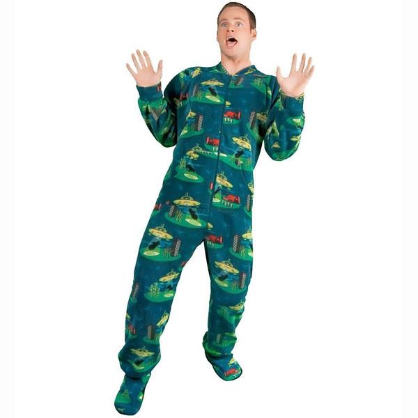 Alien Abduction Fleece Onesie Pajamas b2024975a