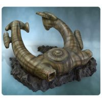 Alien Derelict Ship Statue