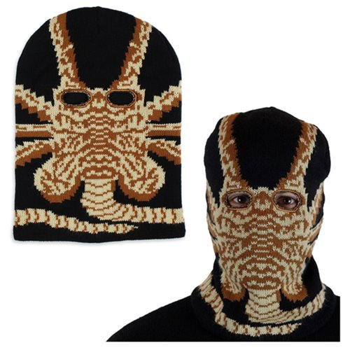 The alien facehugger ski mask will give you an instant facehugger on