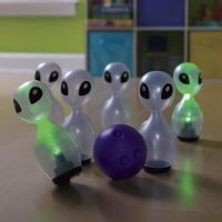 Alien Glow Light-Up Bowling Set