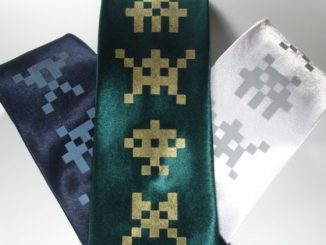 Alien Invaders Silk Tie